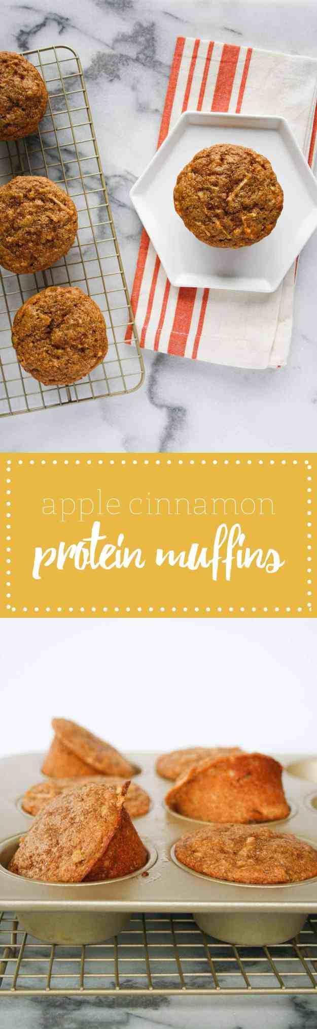 apple cinnamon protein muffins pinterest