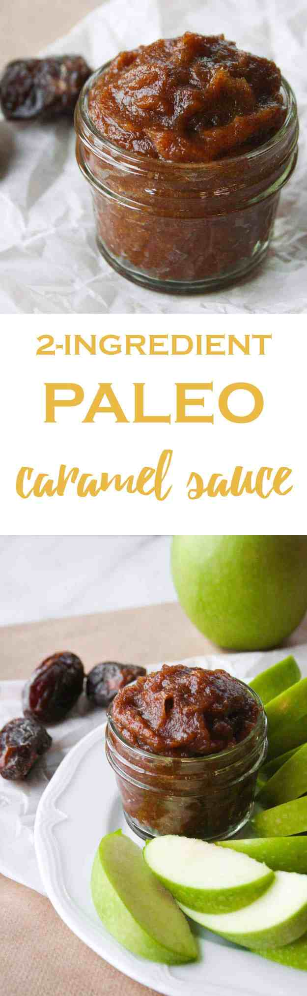 I've been reaching for this simple to make and deliciously decadent 2-Ingredient Paleo Caramel Sauce all fall. It's perfect on sliced apples! | hungrybynature.com