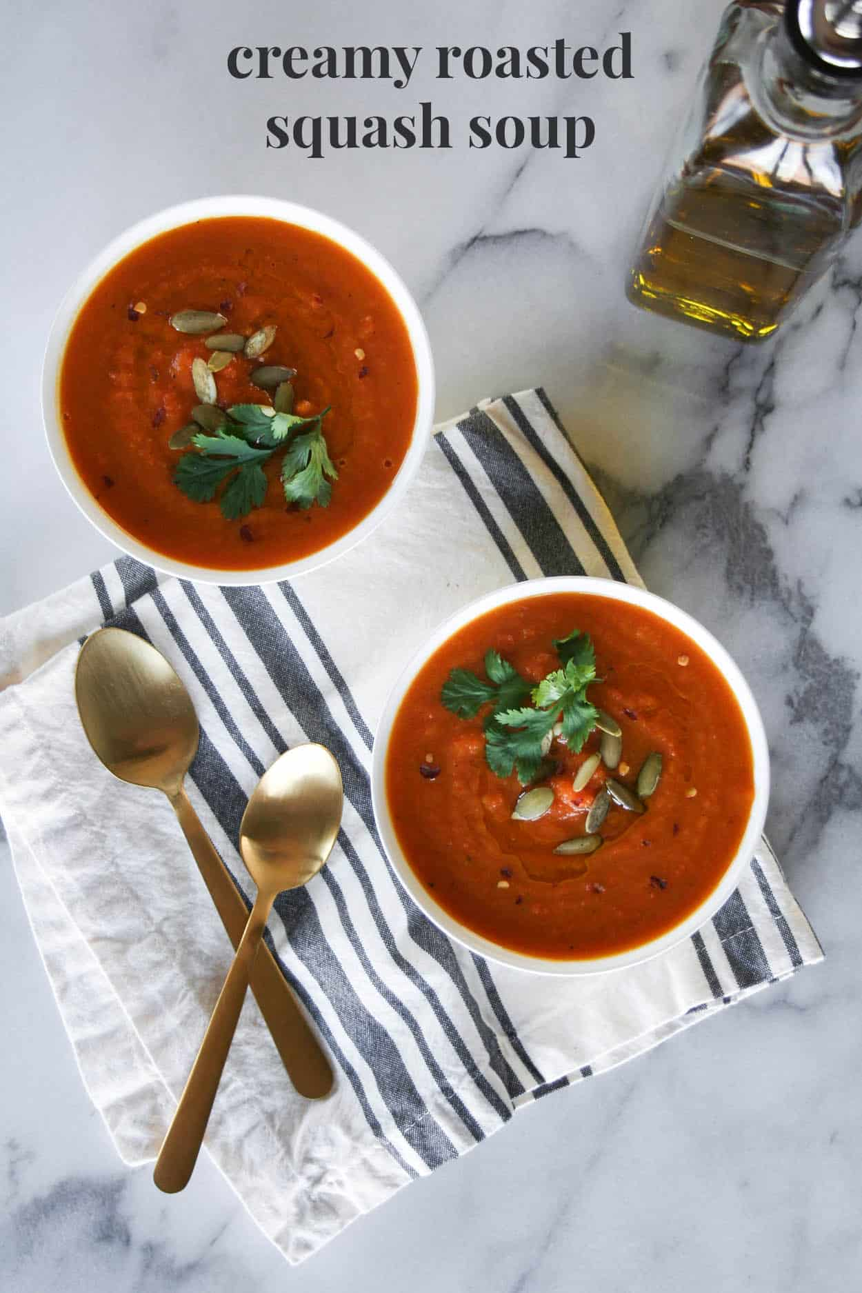 Creamy Roasted Squash Soup - Hungry by Nature