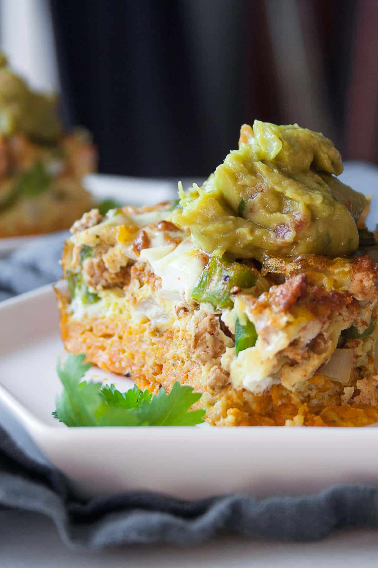 Whole30 Taco Frittata with Sweet Potato Crust - Hungry by ...