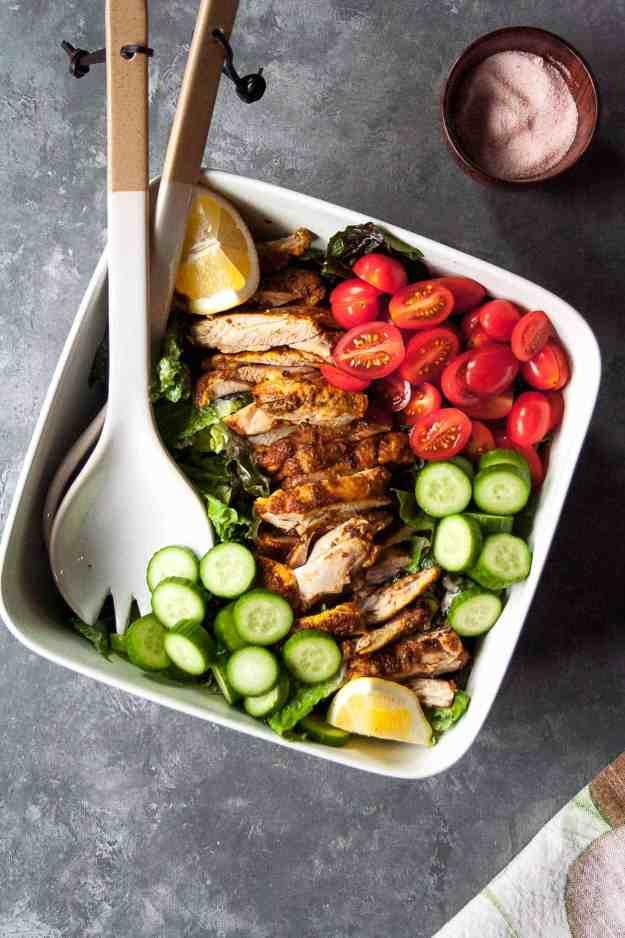 Chicken Shawarma Salad   #whole30 #paleo #easy #healthy #fresh   hungrybynature.com