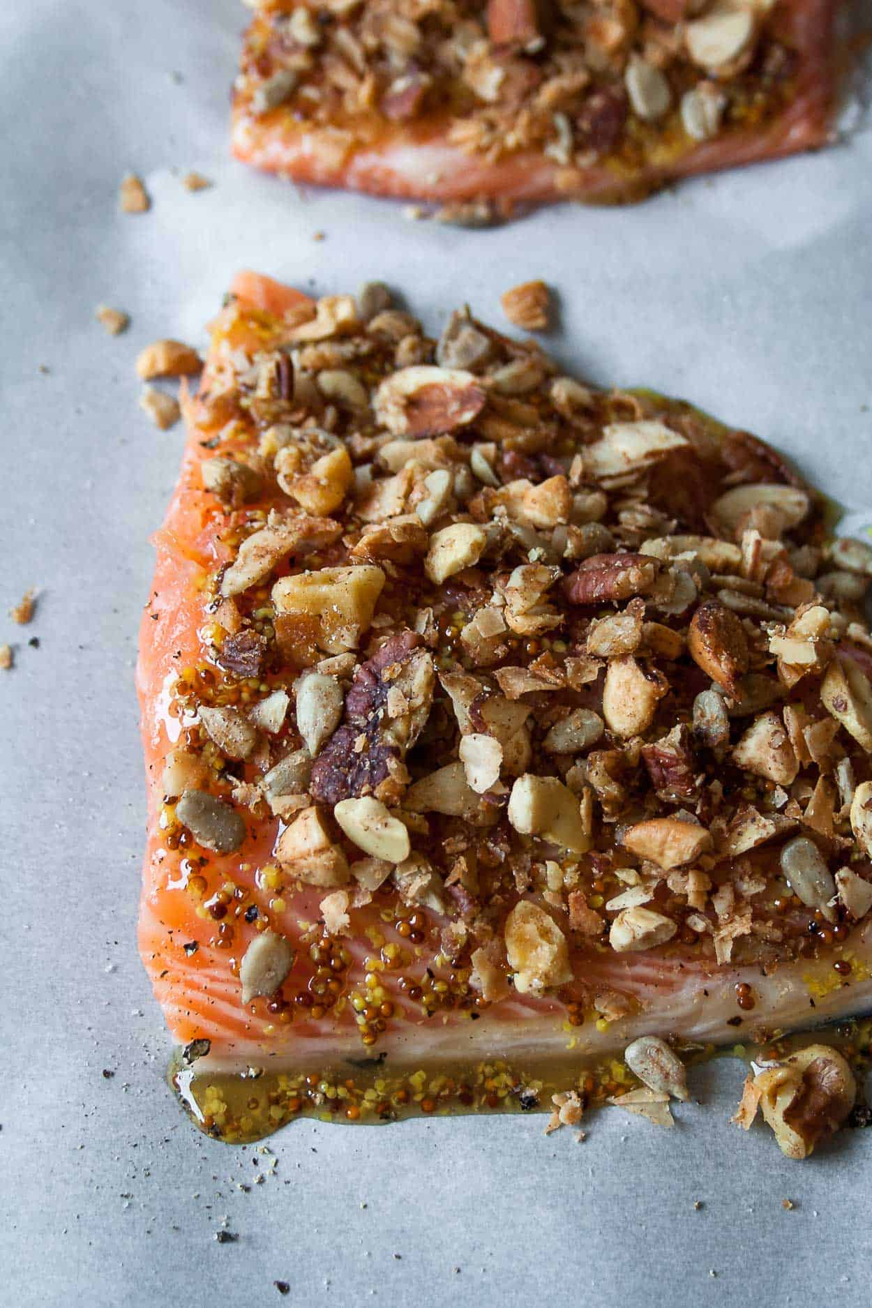 Grain Free Granola Crusted Salmon Hungry By Nature