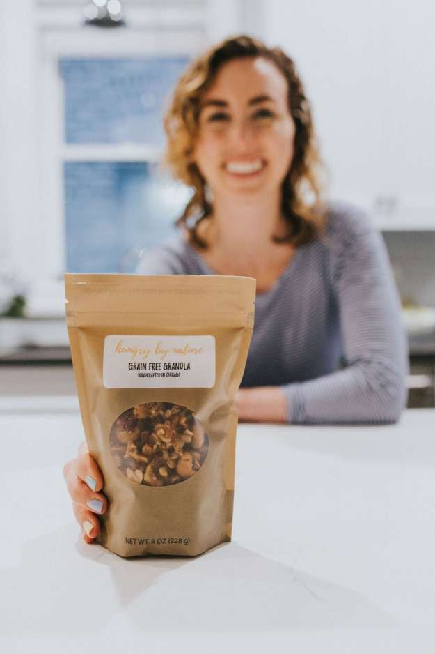 ellie founder of hungry by nature granola with her original grain free granola