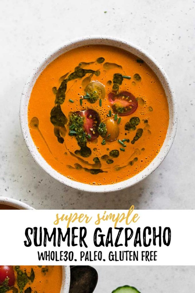 simple summer gazpacho with text overlay