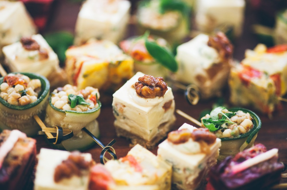 Canapés get the party started
