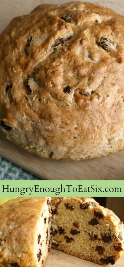 Aunt Lizzy's Irish Soda Bread! A traditional recipe handed down through family, for a soft loaf with flavors of raisin and caraway seed.