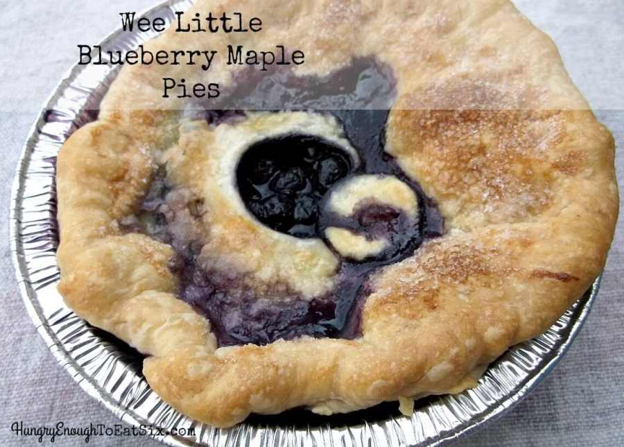 Wee Little Blueberry Maple Pies