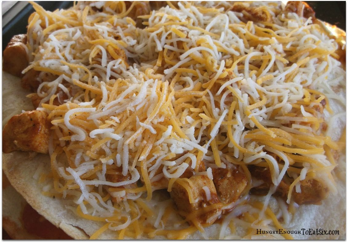 Taco Pizzas, on HungryEnoughToEatSix.com