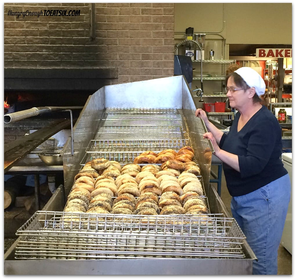 Myer's Bagels: the freshly baked bagels!