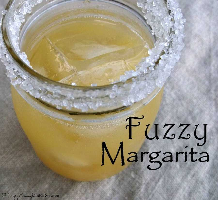 This margarita has the simple but ever so enjoyable flavor combination of a Fuzzy Navel: orange and peach.