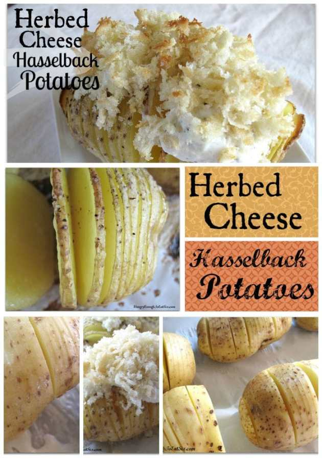 Herbed Cheese Hasselback Potatoes: Six 6-Ingredient Recipes!