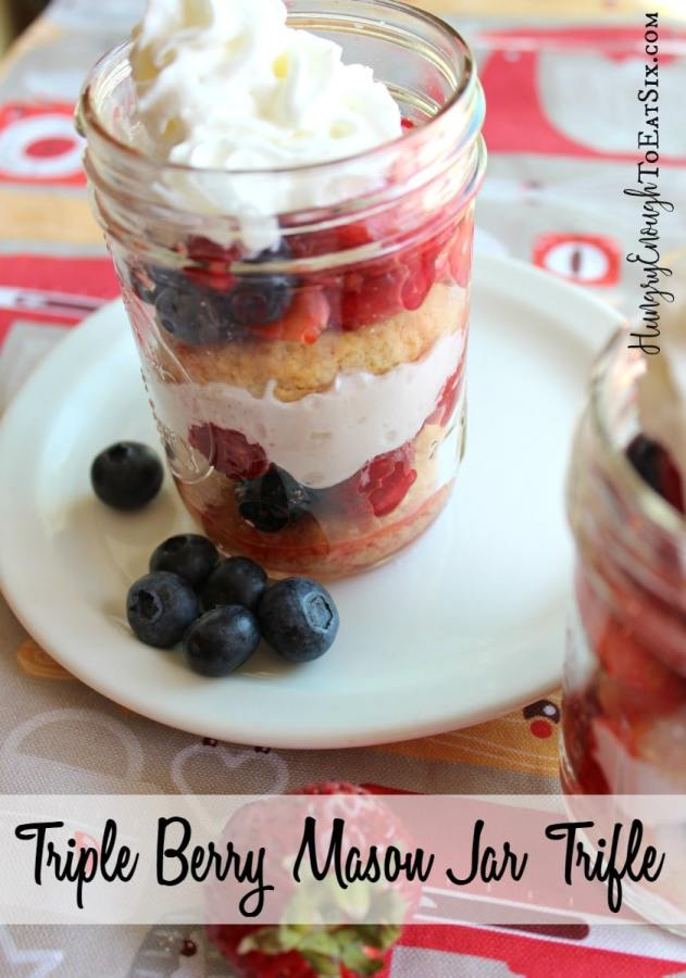 Blueberries, strawberries and raspberries are layered with rich, sweet whipped cream and homemade shortcakes. So summery and delicious!