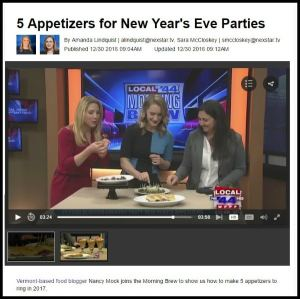 Here are sweet and savory ideas for unique New Year's Eve appetizers! I joined Fox Local 22/Local 44 to share them.