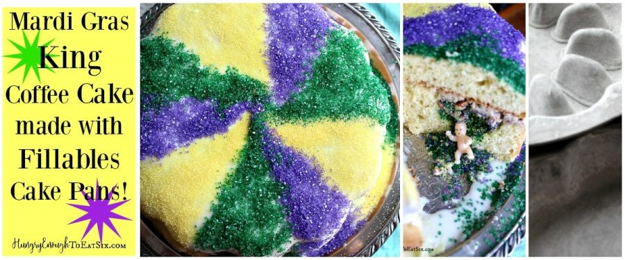 Mardi Gras King Cake, made with Fillables Cake Pans