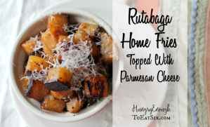 The humble rutabaga is transformed into savory, tantalizing crispy home fries, with a sprinkle of savory cheese.