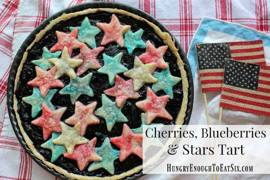 Cherries, Blueberries & Stars Tart