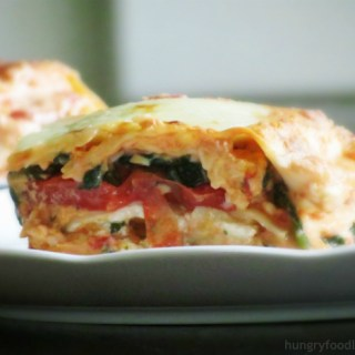 Cheesy Tomato and Spinach Lasagna