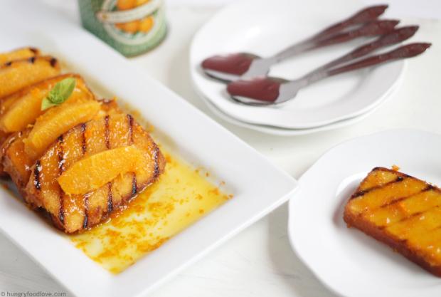 Pound Cake Suzette - with Butter Orange Sauce
