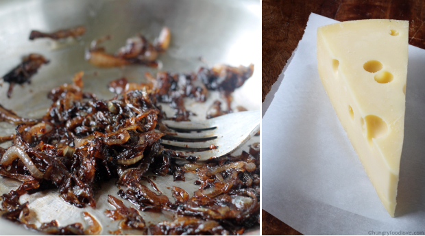 Cheesy Balsamic-Lemon Onion Tarts - These flavors are amazing together!