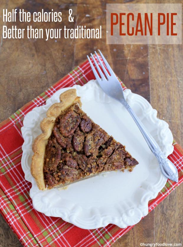 Low Calorie Pecan Pie   |   hungryfoodlove.com