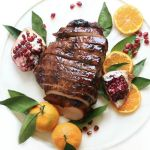 Orange Pomegranate Glazed Turkey Breast