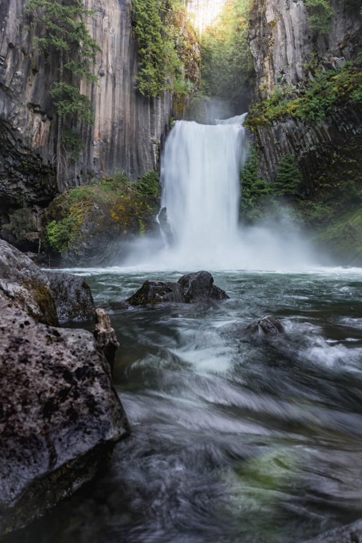 Adventure Landscape Photo - Toketee Falls in Oregon Sunrise