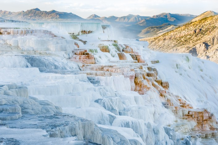 Travel and Adventure Photo - Mammoth Hotsprings in Yosemite National Park