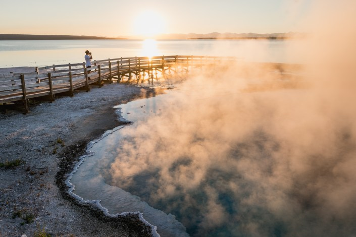 Travel and Adventure Photo - Sunrise at Black Lagoon in Yellowstone National Park