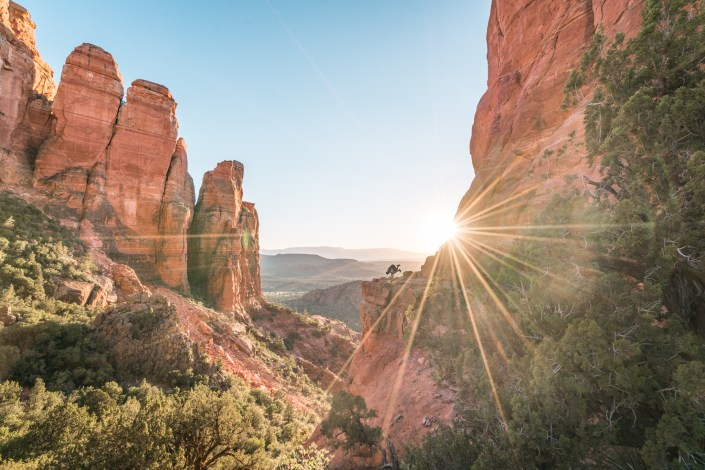Travel and Adventure Photo - Sunset at Cathedral Rock in Sedona, Arizona