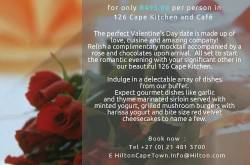 Valentine's Day Dinner at 126 Cape Kitchen and Cafe