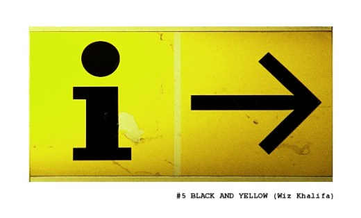 sign black and yellow