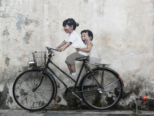 Streetart in Georgetown, Penang