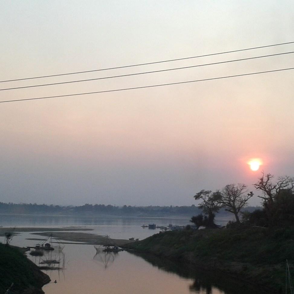 Sonnenuntergang am Mekong