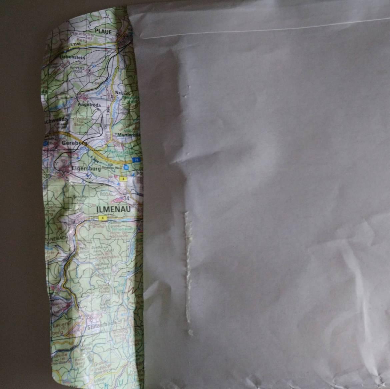 Briefumschlag Deutschlandkarte