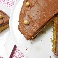 Hazelnut Cake with Milk Chocolate Hazelnut Frosting