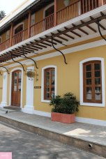 A restored colonial building in Pondicherry