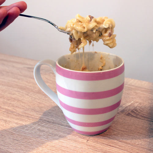 Mac and Cheese in a mug