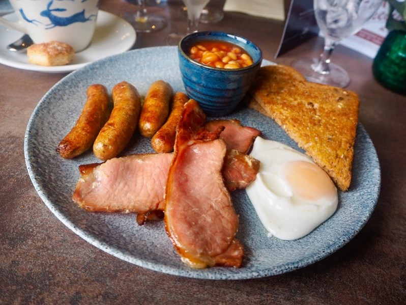 The Hollies farm shop breakfast menu