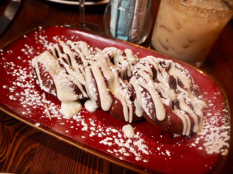 Red Velvet Waffles at Beauty and Essex New York