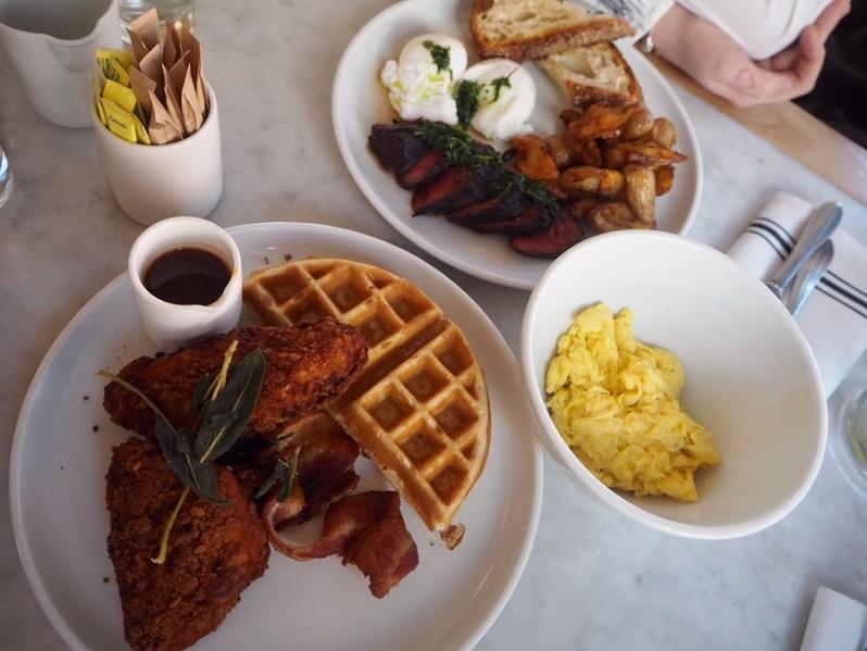 Empire Diner New York breakfast menu