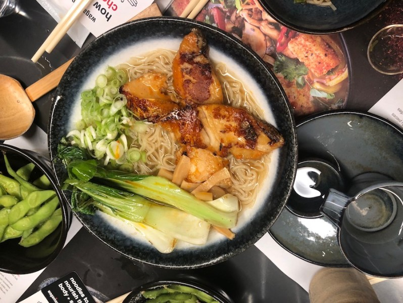 Wagamama Liverpool ONE ramen menu