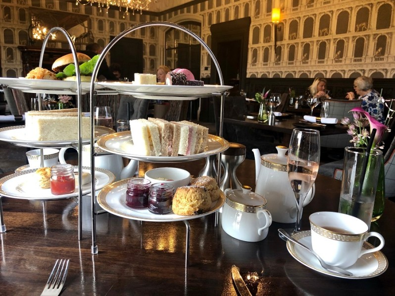 Afternoon tea at The Lawns restaurant in Thornton Hall on the Wirral