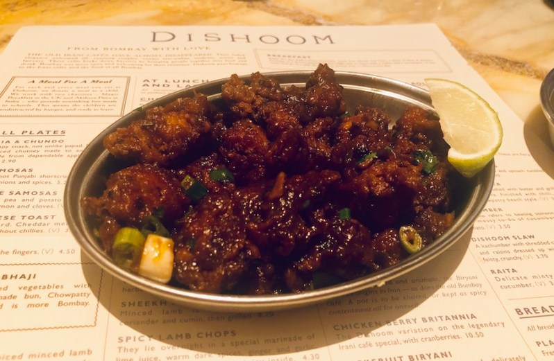 Chilli Chicken small plate from the Dishoom Manchester food menu