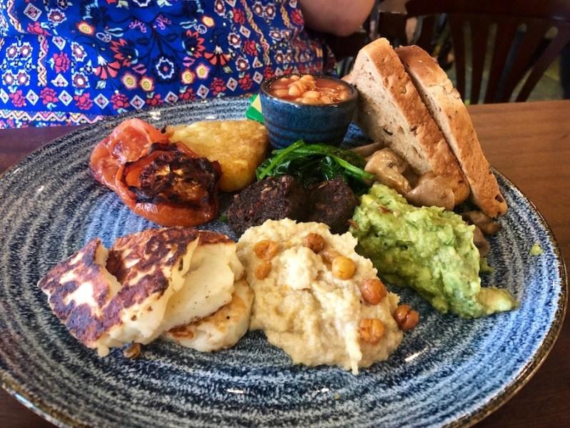 Vegetarian breakfast at The Brunch Club Liverpool