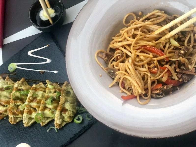Asian food menu at Biberon sushi restaurant and bar in Split Croatia