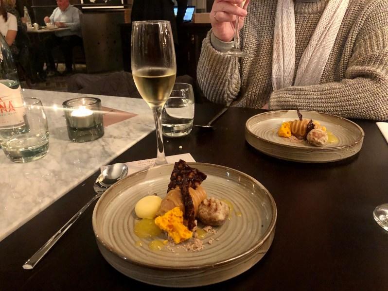 Six By Nico wine flight to go with taster food menu
