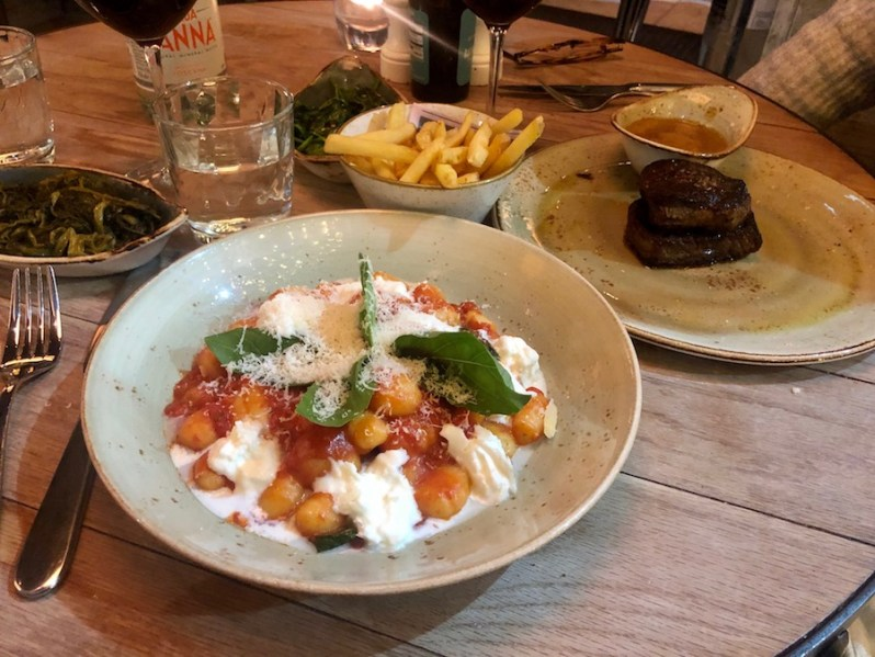 Food and menu review of Gino restaurant Liverpool