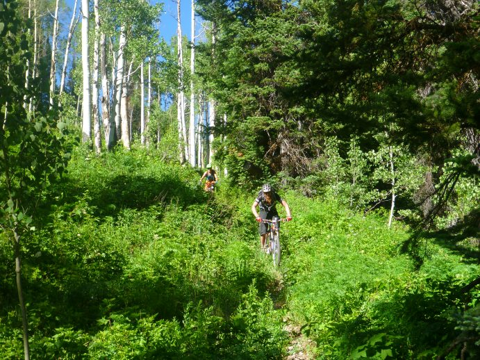 Linden and me chasing down No name.