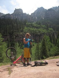 Of course there were flat tires, Martin wouldn't be Martin if there weren't.