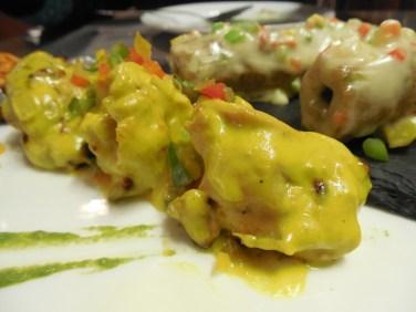 Kebab Platter (Out of focus: Gilafi Sheekh)